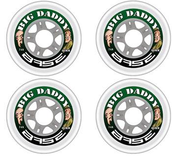 BASE Big Daddy Indoor Rollen 4er Set clear74A