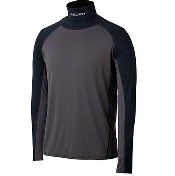 Bauer Core LS Integrated Senior Nackenschutz Shirt