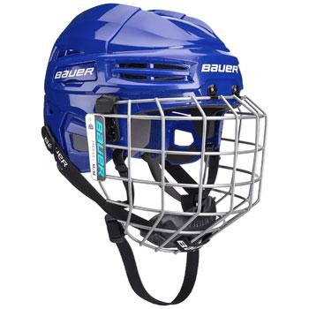 Bauer IMS 5.0 Helm Combo (inkl. Gitter) blau