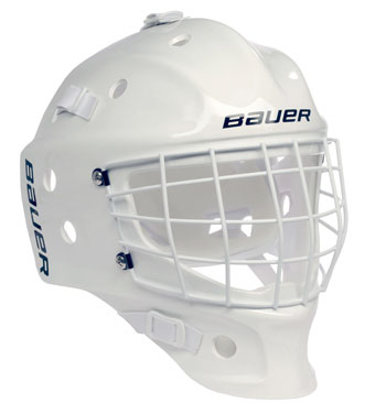 Bauer NME Street Goal Mask Weiss Torwartmaske Bambini