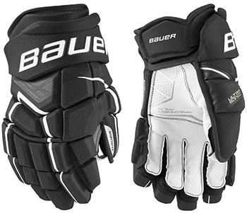 Bauer Supreme Ultrasonic Handschuh Intermed schwarz-weiss