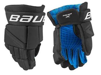 Bauer X Handschuh Bambini schwarz-weiss