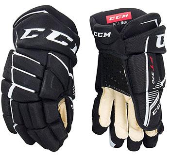 CCM Jetspeed FT370 Handschuh Junior schwarz-weiß