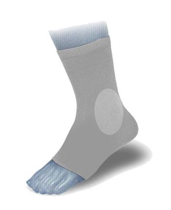 Ortema X-Foot Silikon Polsterstrumpf innen u. aussen 1Stück