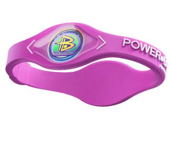 Power Balance Armband Silikon pink/weiss