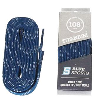 Schnürsenkel gewachst 274cm blau