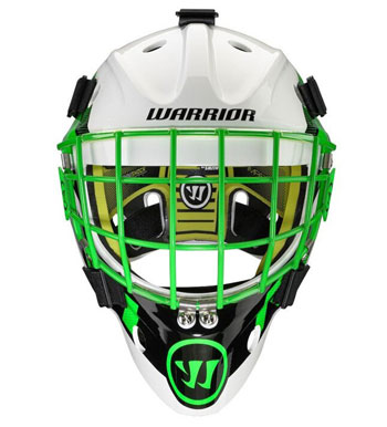 Warrior Ritual F1 Bambini Torwart Maske Neon/Grün/Weiss